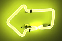 Neon lights - arrow Stock Image
