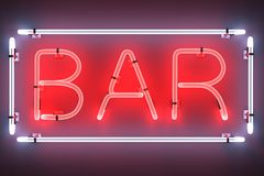 Neon lights - bar Stock Photos