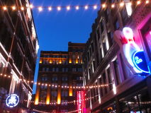 Neon lights, Cleveland, Ohio Royalty Free Stock Images
