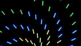 Neon Lights Clip 1 of  2 stock footage