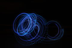 Neon lights in the dark royalty free stock image