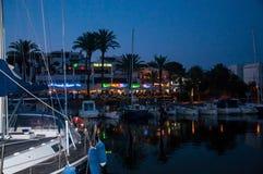 Neon lights Majorca Stock Photography