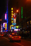 Neon Lights of Manhattan, NYC Royalty Free Stock Photography