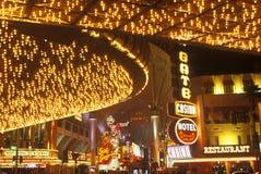 Neon lights at night, Downtown, Las Vegas, NV Stock Photo