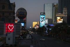 Neon lights of night Las Vegas royalty free stock photo
