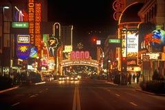 Neon lights at night in Reno, NV Stock Image