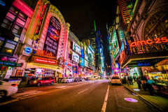 Neon lights of NYC Royalty Free Stock Photography