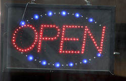 Neon lights open sign Royalty Free Stock Images