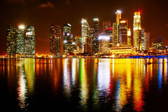 Neon lights of Singapore Stock Photos