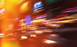Neon lights on the streets of New York City royalty free stock image