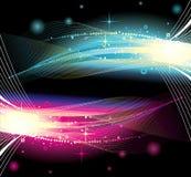Neon lights vector background royalty free illustration
