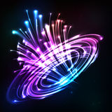 Neon lights vector cosmic explode Royalty Free Stock Images
