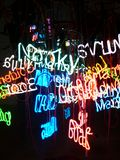 Neon lights. Words royalty free stock images