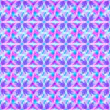 Neon lilac flowers seamless pattern stock illustration
