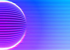 Neon lines background with glowing 80s new retro vapor wave style Stock Photos