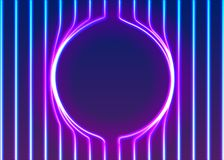 Free Neon Lines Background With Glowing 80s New Retro Vapor Wave Style Stock Images - 140439154