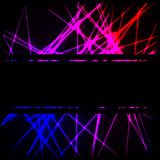 Neon lines with black stripe Royalty Free Stock Photo