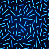 Neon lines seamless pattern. Vector blue neon glowing lines. On a black background Royalty Free Stock Image