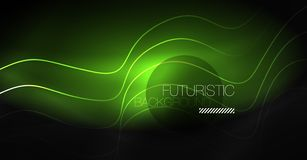 Neon lines wave background. Abstract composition. Neon lines wave background. Vector abstract composition vector illustration
