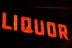 Neon Liquor Sign Royalty Free Stock Photography