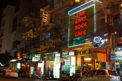 Restaurants and bars in Nha Trang royalty free stock images