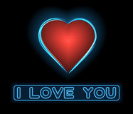 Neon love heart Royalty Free Stock Images