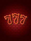 Neon lucky sevens. Lucky sevens neon sign . More in my portfolio Stock Photos