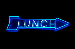 Neon lunch royalty free stock images