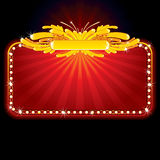 Neon luxury sign royalty free stock images
