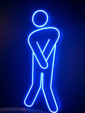 Neon man. Neon lamp  man Royalty Free Stock Photo