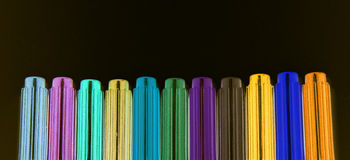 Neon markers Royalty Free Stock Image