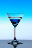 Neon Martini. On a bright background Royalty Free Stock Image