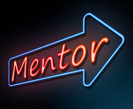 Neon mentor concept. Stock Photo