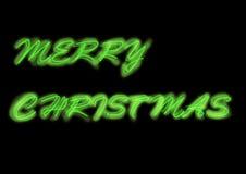 Neon merry christmas greetings. Neon looking merry Christmas greetings, with glowing edge Royalty Free Stock Image