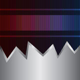Neon and metal background royalty free illustration