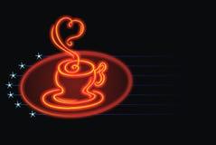 Neon mit Cup Lizenzfreies Stockfoto