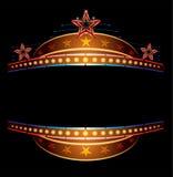 Neon mit Sternen Lizenzfreies Stockbild