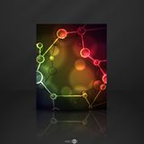 Neon Molecule Illustration. Royalty Free Stock Image