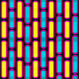 Neon mosaic. Seamless pattern. Stock Photos