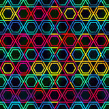 Neon mosaic seamless pattern with grunge effect Royalty Free Stock Photography