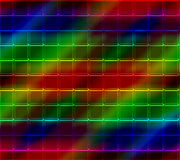 Neon Mosaic Tile Background Stock Photo