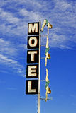 Neon Motel Diving Lady Royalty Free Stock Photography