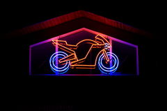 Neon - motorbike. A photo of neon in the shape of motorbike Stock Image