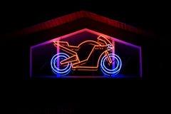 Neon - motorbike Stock Image