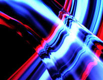 Neon multicolor. Abstract illustration of a neon multicolor luminescence Stock Images