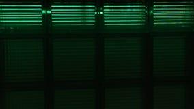 Neon-multicolors Lampen blinken im Verein stock video