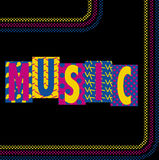 Neon Music Royalty Free Stock Images