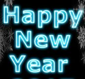 Neon happy new year Stock Images