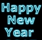 Neon new year sign Royalty Free Stock Photos
