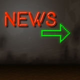 Neon News Indicates Glow Bright And Information Royalty Free Stock Photos